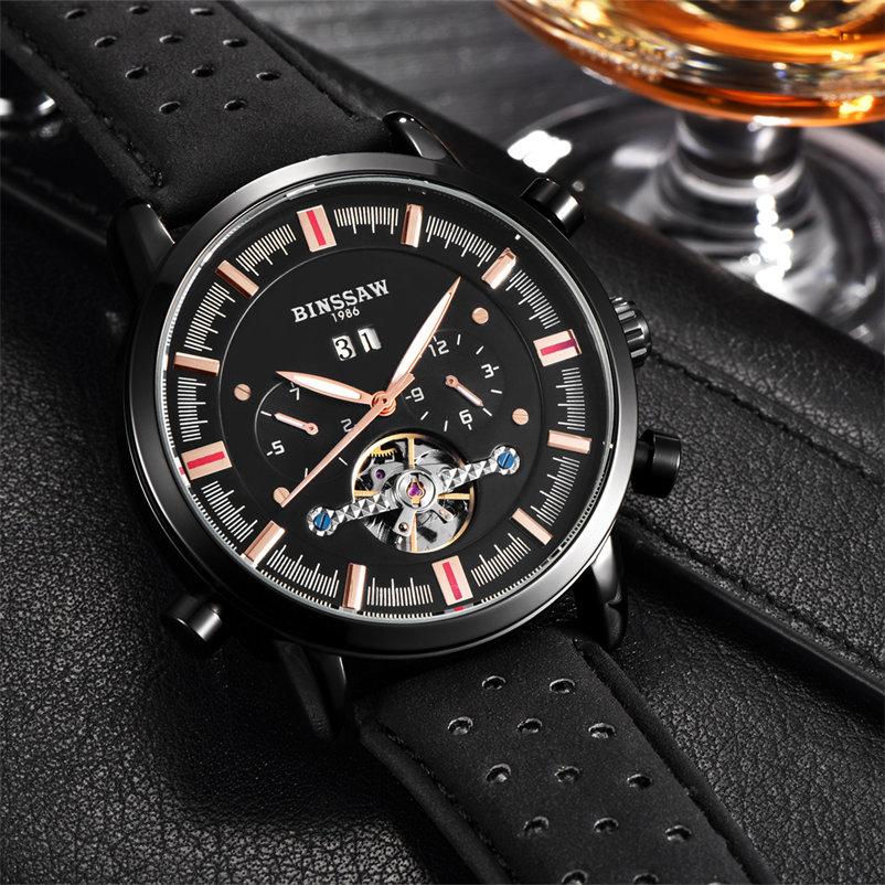 Marca superior de lujo BINSSAW 2018 nuevos hombres Tourbillon reloj - Relojes para hombres - foto 4