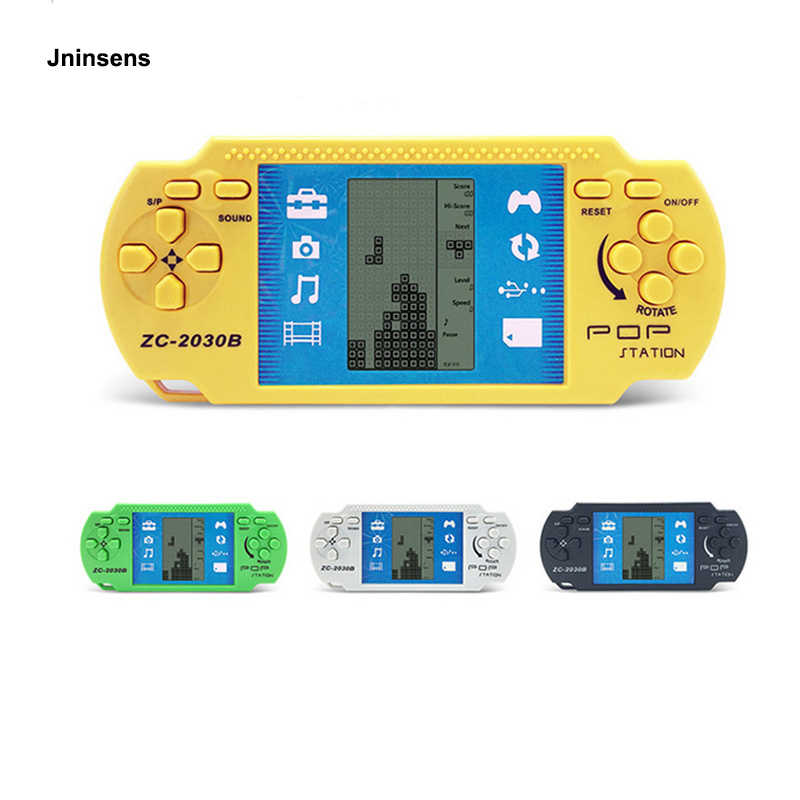 Classic Childhood Tetris Hand Held Electronic Game Toys Pocket Game Console Handheld Game Players Aliexpress