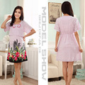 Maternity Dress Casual Cotton Summer Dress Maternity Wear Plus Size Patchwork Stripe Pattern Pregnancy Dress Vestido Amarelo