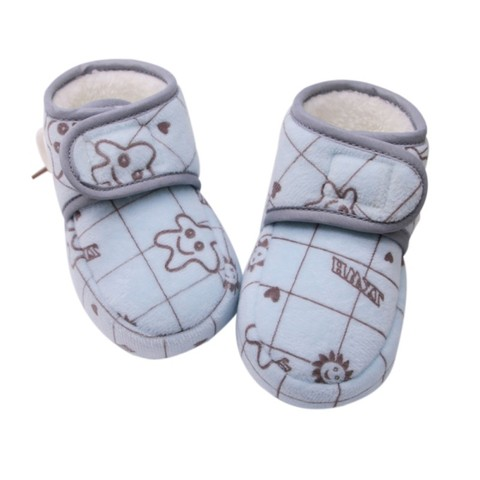 Hot Baby Toddler Shoes New Winter Baby Girl Cute Cartoon Anti-slip Soft Sole Crib Shoes First Walkers Plus Velvet Baby Shoes W Islamabad