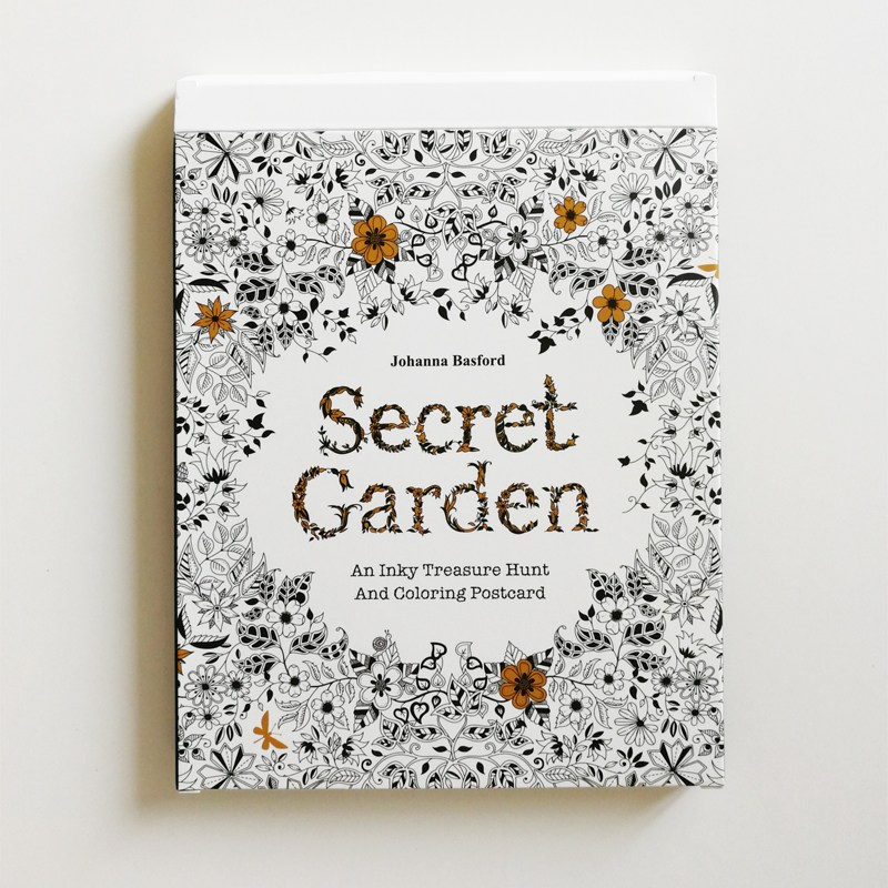 Secret Garden  Big Size Coloring Postcards 30sheets /Set Anti-stress Postcards For Adult The Secret Garden Series DIY Gift