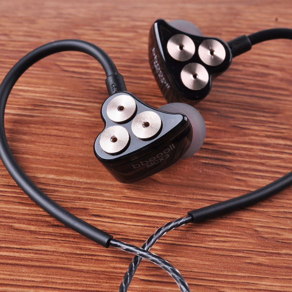 New Arrived Boollo BOT1 3DD Hifi Sport In-ear Earphone Dynamic Driver Noise Cancelling Headset With Mic Replacement Cable