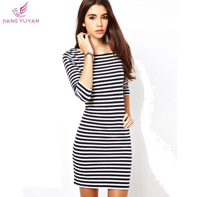 7992667b1f07f Nueva moda Casual vestidos mujer estilo de muy buen gusto del o-cuello de  tres