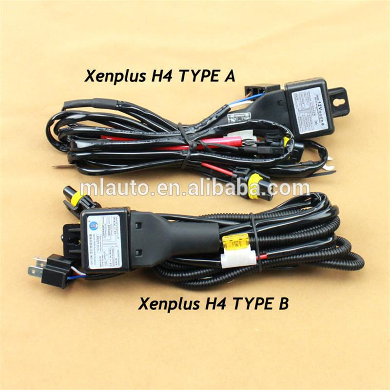 Good Quality Hid Bi Xenon H4 Wire Harness For 35w And 55w