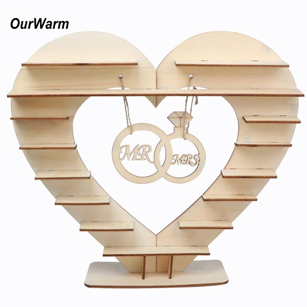 Nuestro cálido Sr. Mrs boda corazón de Chocolate árbol ferreroer Rocher Chocolate soporte de exhibición de la boda pieza central caramelo Bar Decoración