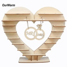 цена OurWarm  Mr Mrs Wedding Chocolate Heart Tree Ferrero Rocher Chocolate Stand Wedding Display Stand Centrepiece Candy Bar Decor онлайн в 2017 году