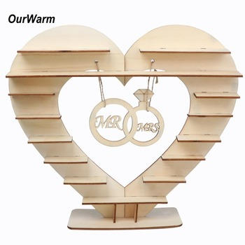 OurWarm  Mr Mrs Wedding Chocolate Heart Tree Ferrero Rocher Chocolate Stand Wedding Display Stand Centrepiece Candy Bar Decor