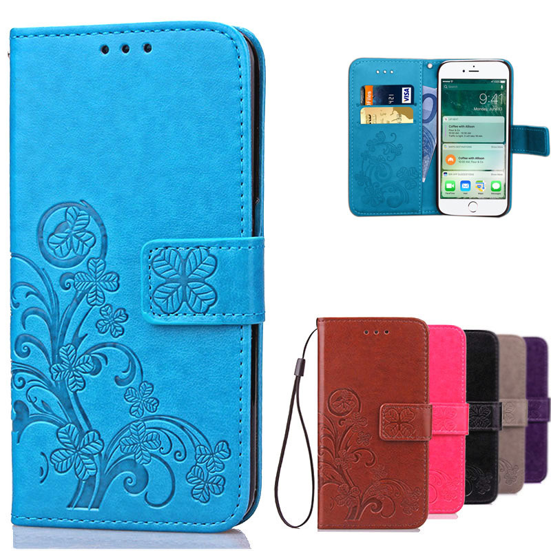 For IPHONE 7 Flip Case iPhone7 Luxury Leather Book Style Silicon Cover Wallet Case For Coque Apple iPhone 7 Plus With Card Slots