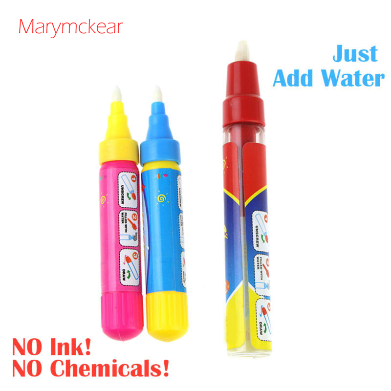 Magic Water Pen No Ink No Chemicals Drawing Pen For Water Painting Mat/Book Kids Educational Learning Tool In Red/ Blue 2 Size