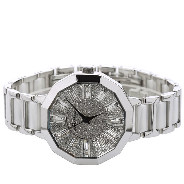 Extravagant Crystals Women Dress Watches Ceramic Bracelet Wrist watch Japan Quartz Analog Clock MELISSA Relogio Montre Femme-in Women's Watches from Watches    3