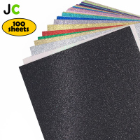 JC 12''x12'' 100 Sheets Top Grade Glitter Craft Paper Cardstock Party Decoration Wrap Gift Card Making DIY Scrapbook Paper Craft
