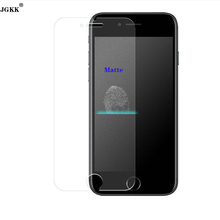 JGKK No fingerprints On Digital Premium Tempered Glass Screen Protector for iPhone7 7Plus Matte Frosted Glass Protection Film