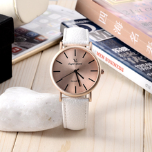 New Men Women Unisex Watches Round Dial Fashion Leather Female Wristwatch High Quality watch Ladies Watches saat montre femme