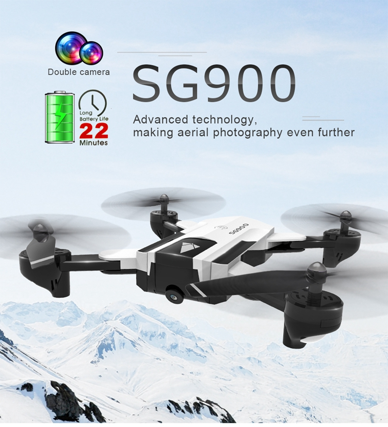 RC Helicopter With HD WiFi Camera Professional Double camera GPS <font><b>Drone</b></font> Automatic Follow RC Quadcopter SG900 <font><b>SG900s</b></font> Foldable Dron image