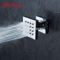 High Quality Bathroom Brass Shower Body Massage Jets Sprayer Massaging Shower Head Chrome Finishes Bathroom Faucets