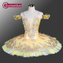 New Canary Fairy Professional Ballet Tutu  Adult Classica Platter Costume Stage Performance Dancewear