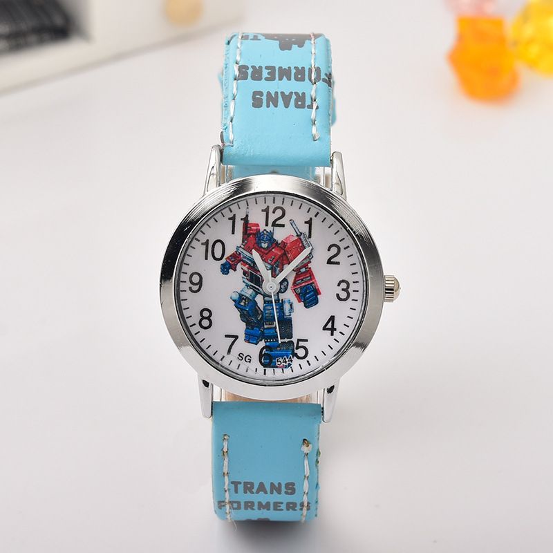 2019 New Deformation Robot Fashion Child Watch Student Fashion Bracelet Kids Watch Quartz Children's Watch Boys Girls Gift Clock