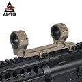 """AIMTIS GEISSELE Estender Automático Defesa Optics AR15 M4 M16 Rifle Scope Mount 1 """"/30mm Tecelão Picatinny Ferroviário anel de Montagem"""