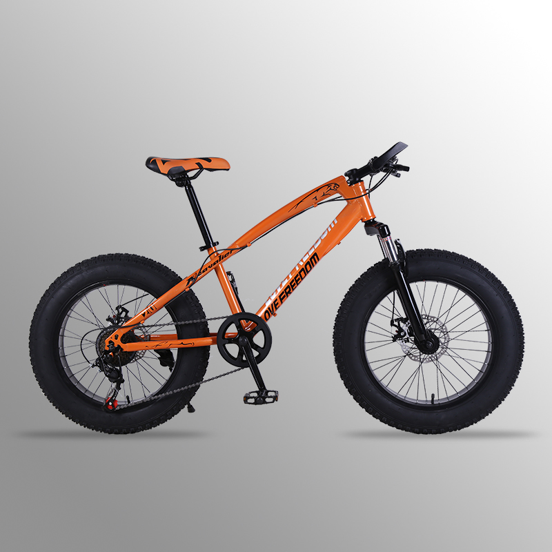 mountain bike 21 speed 2.0X4.0bicycle Road bike fat bike Front and Rear Mechanical Disc Brake Women and children Spring Fork bicycle 27 5 inches 24speed mountain bike aluminum alloy frame road bike front and rear mechanical disc brake spring fork