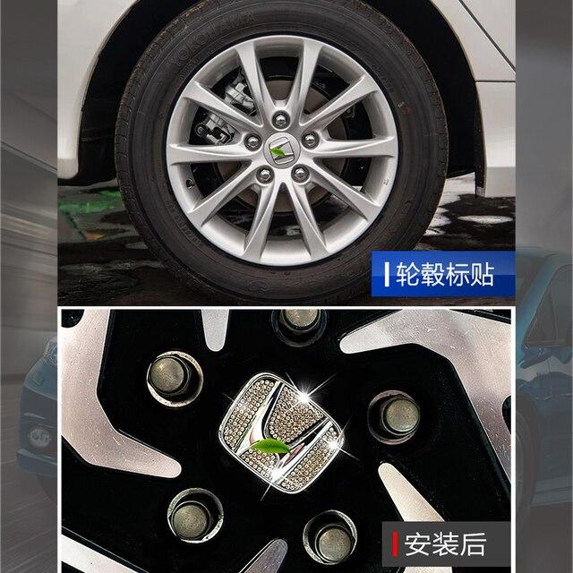 Car Emblem Wheel Center Hub Cap Wheel Badge Steering Wheel Logo Car Stickers For Honda Civic Since 2016