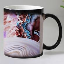 New abstract design coffee mugs Heat Temperature Sensitive changing color Magic mug tea cups dropshipping