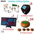 433 mhz Cafe Chamando Sino Relógio Pager Sistema de Chamada de Serviço de Call Center Certificação CE Uso Pessoal Alarme Pager