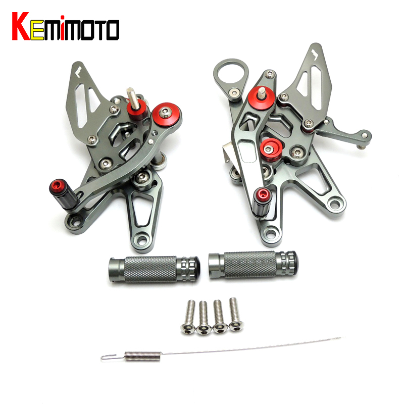 KEMiMOTO CNC Adjustable Rearset Foot Rest Foot pegs For