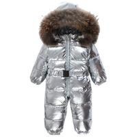2019 new arrival silver thicker baby girl and boy rompers 90% white duck down kids overcoats 5 colors down jackets ws08 dropship