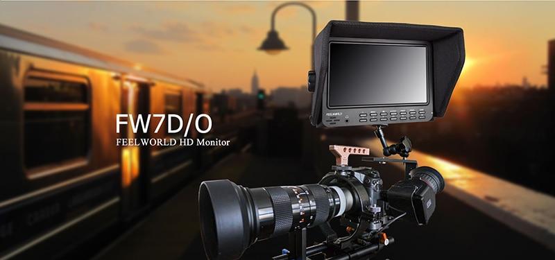 FEELWORLD FW7D/O 7inch 1024x600P High Resolution On-Camera Field HD DSLR Monitor