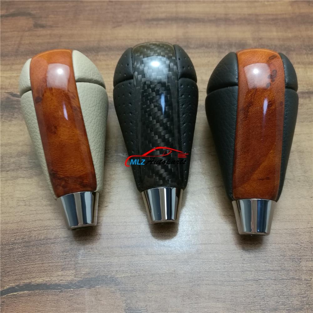 Mahogany Look Carbon Fiber Automatic Gear Shift Knob Head Replacement For Lexus GS300 1998 2006 GS350
