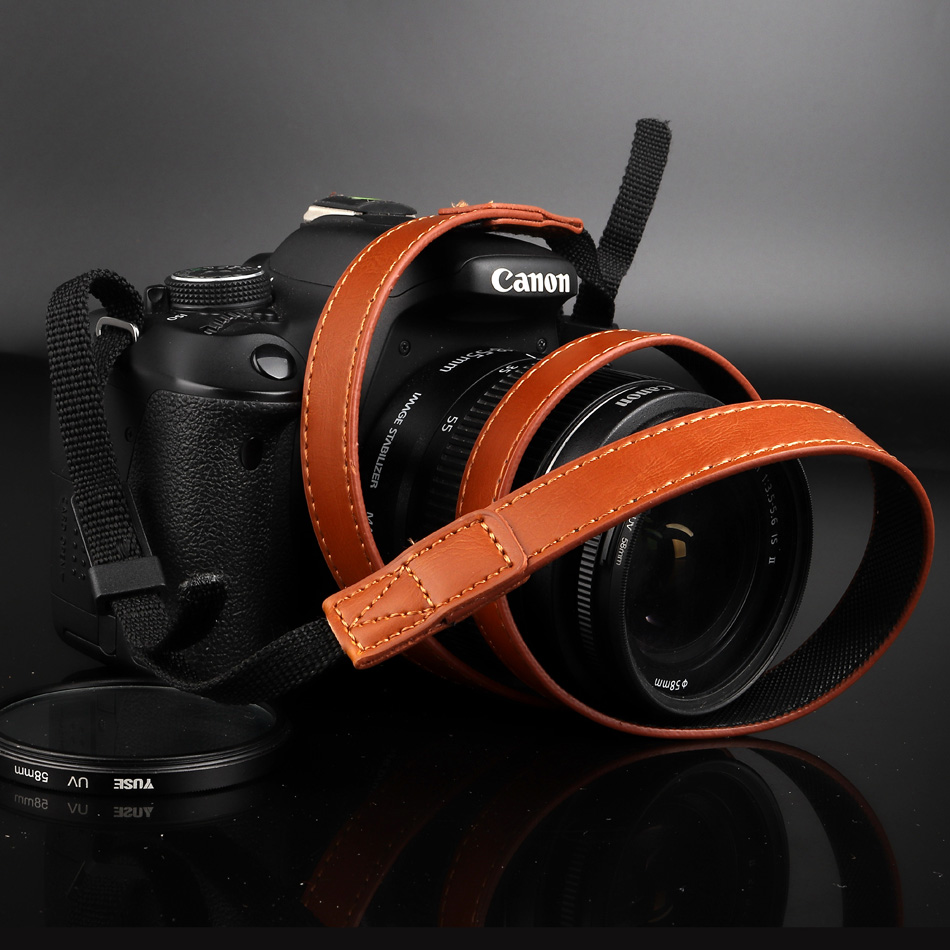 PU Leather Camera Strap Shoulder Neck Belt For <font><b>Samsung</b></font> NX3000 NX2000 NX1000 NX1100 <font><b>WB1100F</b></font> WB1100 WB2100 NX300M NX300 NX20 NX1 image
