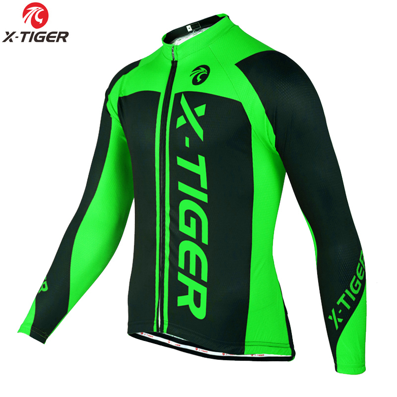 X-Tiger 2018 Winter Cycling Clothing Mountain Bicycle Wear Maillot Ropa Ciclismo Invierno Thermal Fleece MTB Bike Cycling Jersey oki 44059169