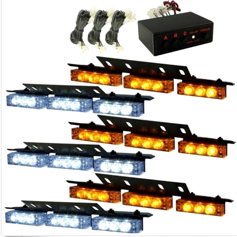 Car 6*9 54 LED warning lights Flash Light.Police Light   Flashing Emergency Firemen Lamp 3 Mode 12V.  lightred blue amber white