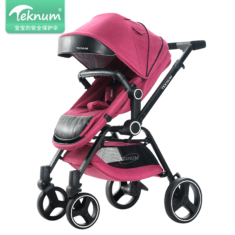 Babyfond High Quality Baby Trolley baby can sit and lying stroller Folding Baby Carriage High Landscape Baby Pushcart.