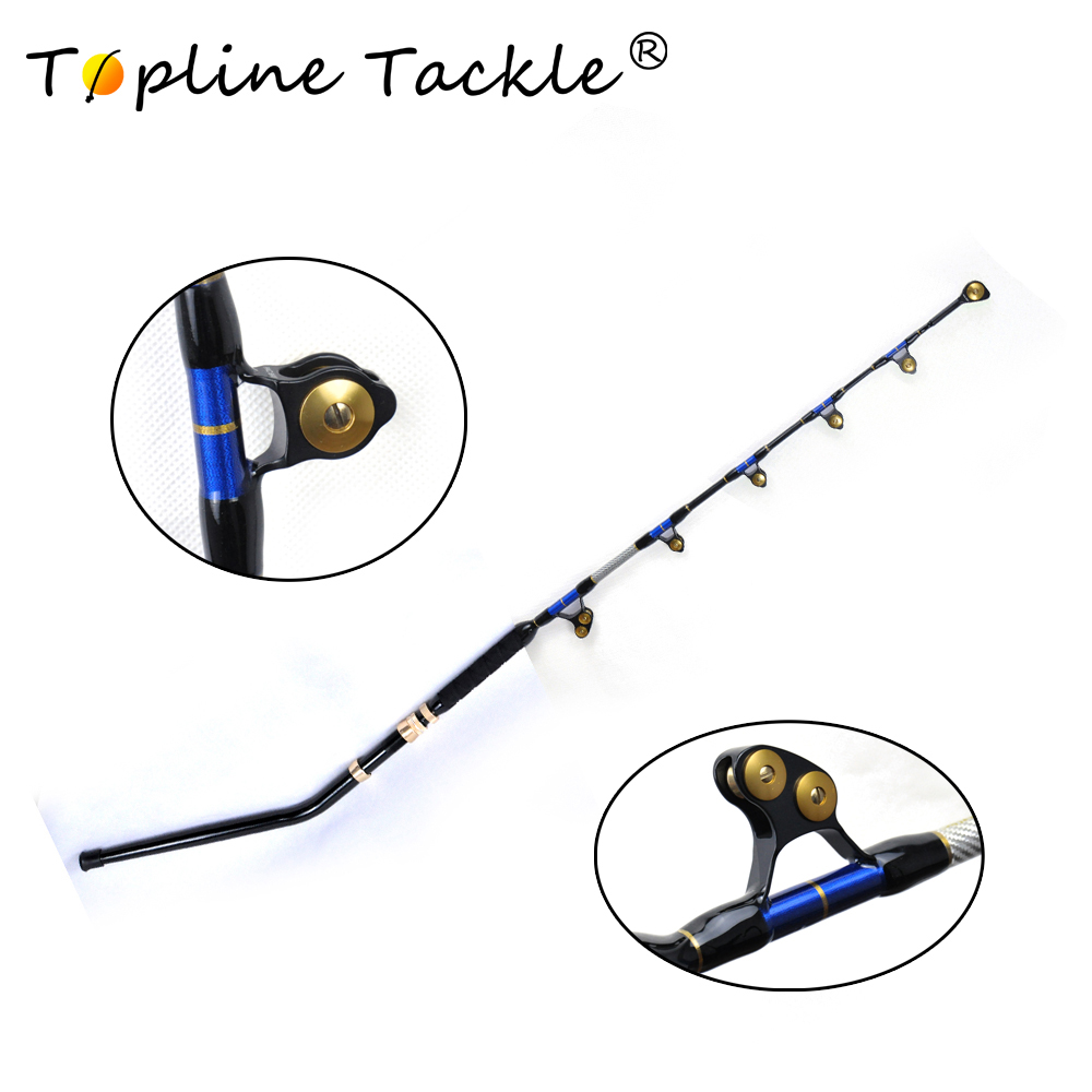 2018 TopLine Tackle Fishing Rod Boat fishing rod BlueSpear80lb 5'6 alu butt 5+1 roller guide Trolling Fishing Rod коврик для ванной iddis angora times цвет бежевый 70 х 120 см