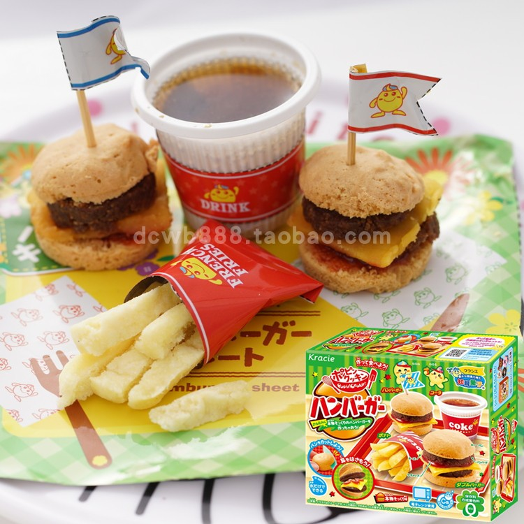DiY Mini Hamburger Toy Pretend Play Kitchen Toy, Cook Toy Children DIY Handmade Fun Classic Toys Miniature Dollhouse Food