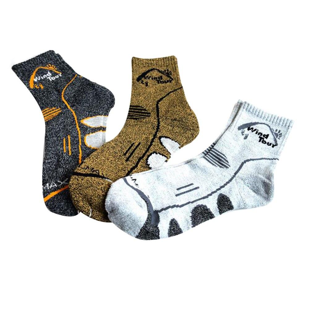 2019 Wind Tour Unisex Thermal Running Winter Warm Sport Socks Mens & Womens Outdoors Comfortable Soccer Sock Coolmax