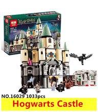 1033 Pcs 16029 Modèle kit de construction compatible avec lego 5378 Harry Potter Briques Magique Hogwort Château 3D blocs modèle bâtiment jouet