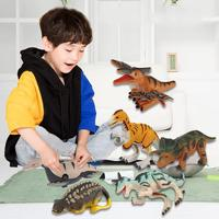 12PCS/set Children Clockwork Chained Walking Dinosaurs Toys Mini Simulation Walking Chain Wind Up Dinosaurs Toys For Boys Kids