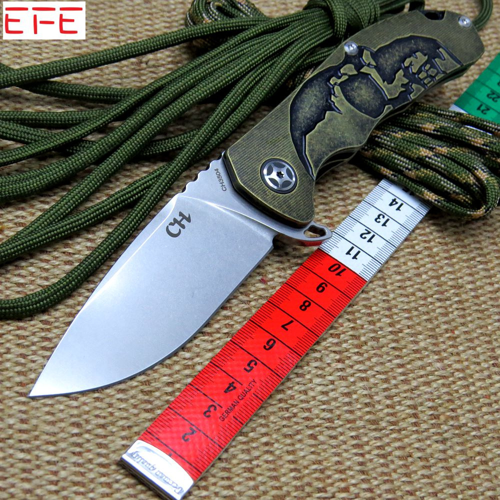 Efeng CH3504 Tactical Folding Knife S35VN Blade Titanium Handle Ball Bearing Camping Knives Outdoor Hunting Survival Pocket Tool  цены