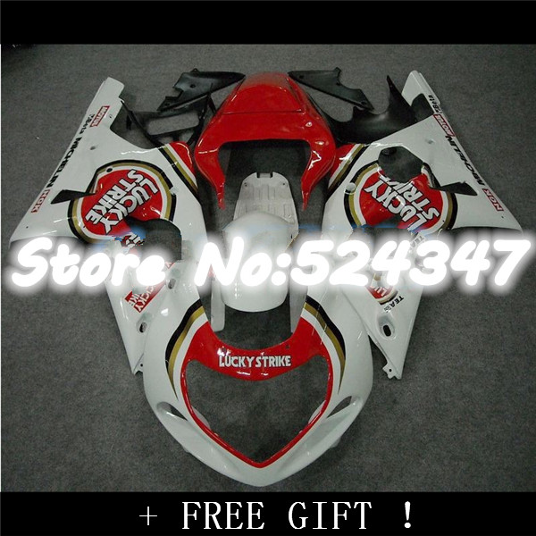 FIT For A <font><b>GSXR</b></font> <font><b>1000</b></font> 01-02 GSX R1000 00 01 02 2001 <font><b>2002</b></font> red white Aftermarket ABS Fairing Plastic Kit for <font><b>Suzuki</b></font>-Nn image