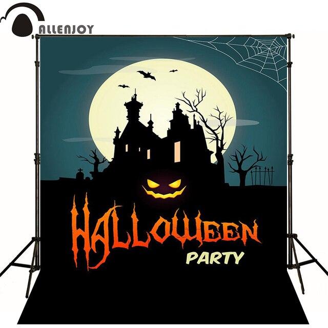 Allenjoy Happy Halloween Backgrounds Vinyl Backdrops Celebration Party Night  Moon Studio Background For Photo Studio Photo