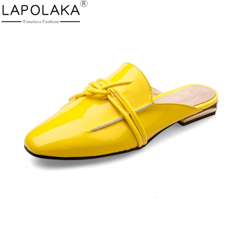 LAPOLAKA 2018 Large Size 34-42 Genuine Leather Slip On Spring Summer Shoes Women Flats Casual Cow Leather Woman Flats Shoes whensinger 2017 woman shoes female genuine leather flats slip on summer fashion design f927