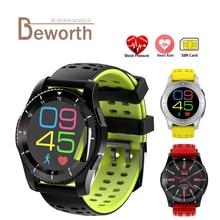 GS8 Sport Montre Smart Watch Téléphone GSM de Fréquence Cardiaque Sang Pression BT4.0 SIM Carte Message D'appel Rappel Smartwatch pour Android IOS