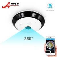 ANRAN 960P Cámara Wifi cámara panorámica de 360 grados seguridad del hogar cámara de vigilancia de visión nocturna de Audio de dos vías ojo de pez