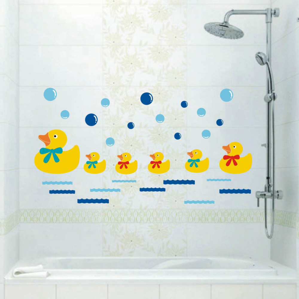 new arrival cute duck kids children lovly wall decoration toilet bathroom wall sticker