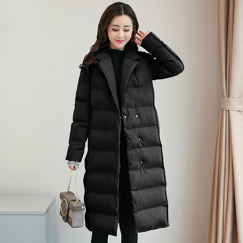 Tcyeek размера плюс 4XL зимняя куртка Женская корейская мода пальто 2019 Длинная женская одежда верхняя одежда парки Топы Chaqueta Mujer LWL811 - 5