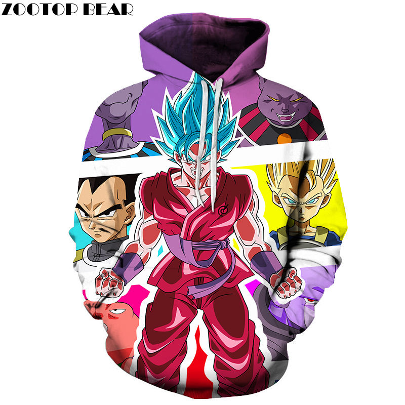 Kids Anime Goku DragonBall Streetwwear Men Hoodies 3D Print Casual Spring Warm Super Drop Ship Tops Male Sweatshirts ZOOTOP BEAR