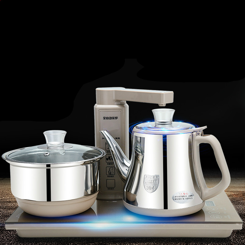 Electromagnetism tea furnace automatic upper water electric kettle pump add set three-in-one kung fu pot free shipping automatic water supply electric kettle tea set pumping furnace