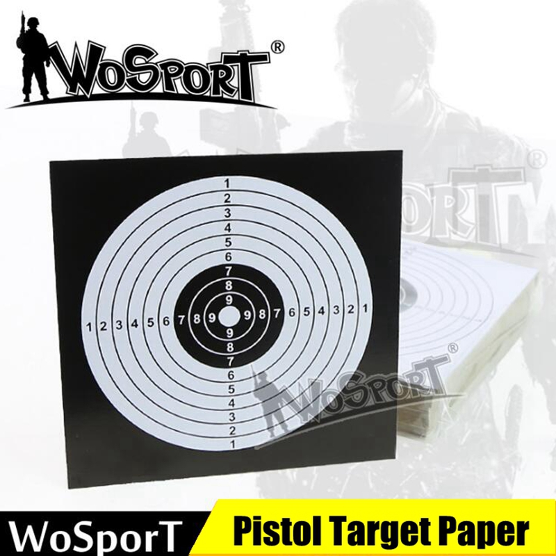 100 X 14cm PAPER Black & White Top Quality Air Rifle Pistol Shooting Targets Paintball Accessory